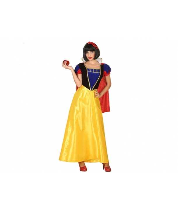 Costum carnaval femei Alba ca Zapada cu pelerina