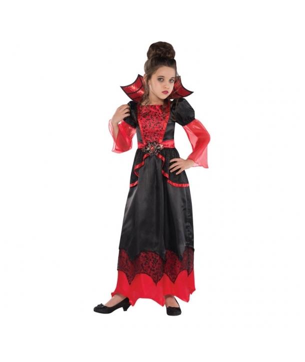 Costum Halloween fete Vampirita cu rosu