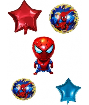 Set 5 baloane folie Spiderman