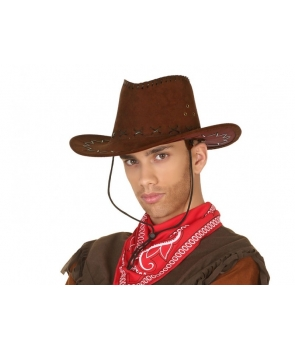 Palarie cowboy maro