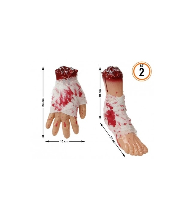 Decor Halloween mana sau picior insangerat