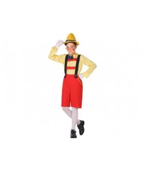 Costum carnaval baieti Pinochio cu rosu