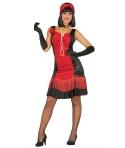 Costum carnaval femei Anii 20 rosu cu negru