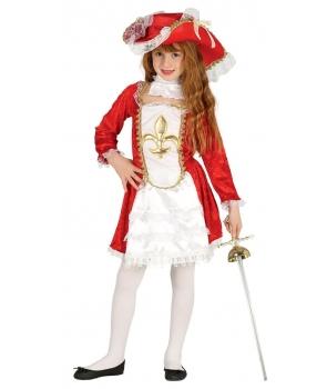 Costum carnaval fete Muschetara cu palarie