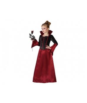 Costum Halloween fete Vampirita cu visiniu