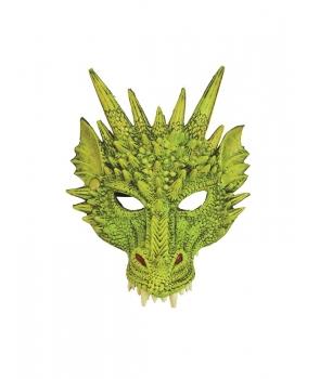 Masca dragon verde