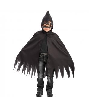 Set Halloween pelerina cu masca paianjen