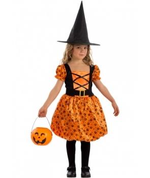 Costum Halloween fete Dovlecica cu palarie