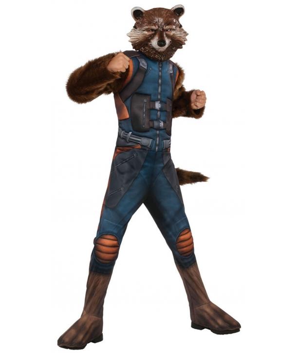 Costum carnaval baieti Rocket Raccoon Gardienii Galaxiei