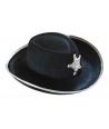 Palarie cowboy-serif copii neagra