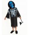 Costum Halloween baieti roba cu schelet albastru