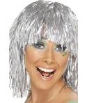 Peruca petrecere Disco argintie