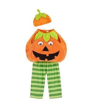 Costum Halloween copii dovlecel cu frunze