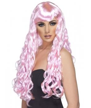 Peruca petrecere Desire roz