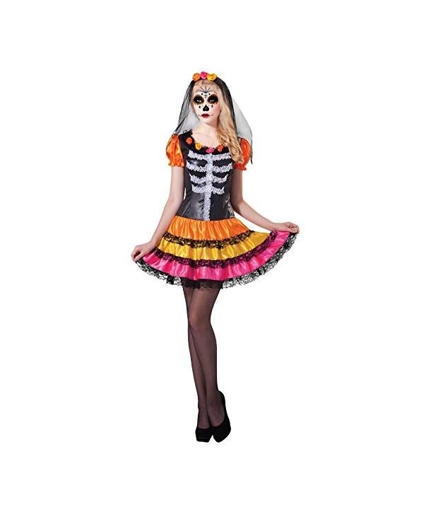Costum Halloween femei Day of the Dead curcubeu