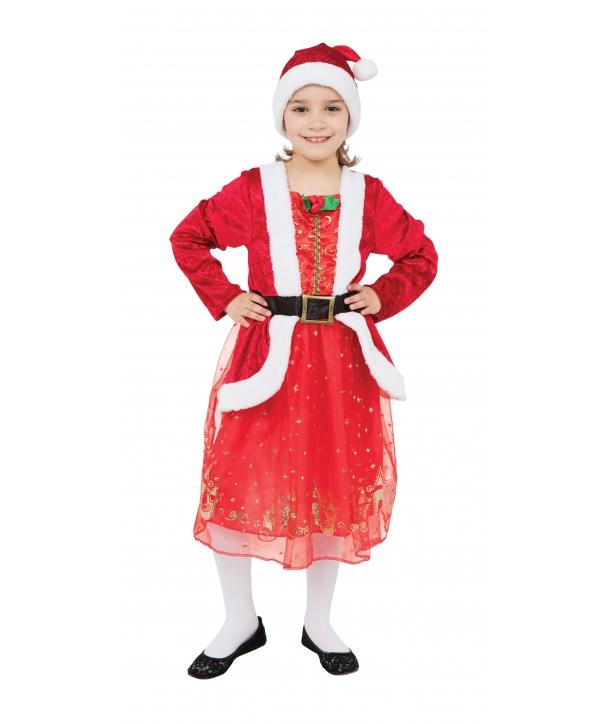 Costum Craciunita fete Miss Santa