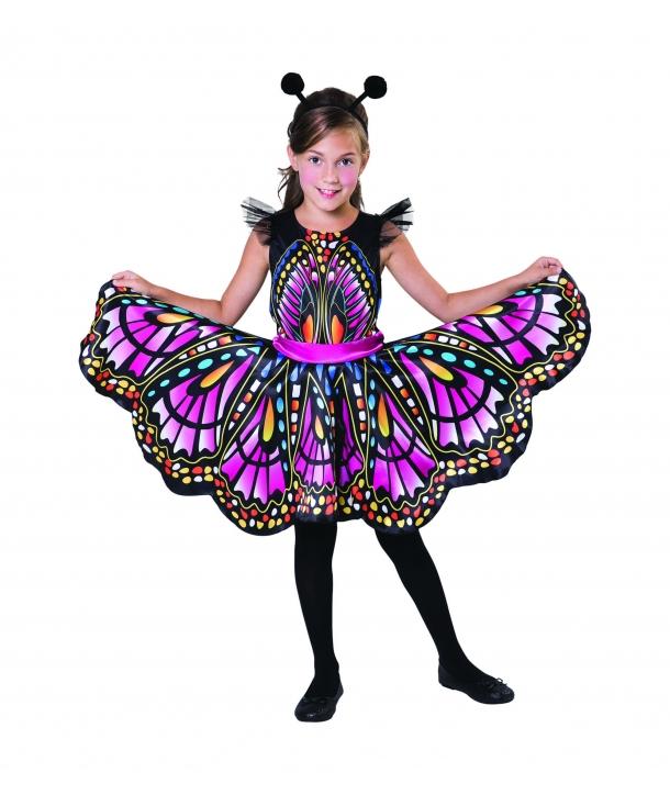 Costum carnaval fete Fluture multicolor
