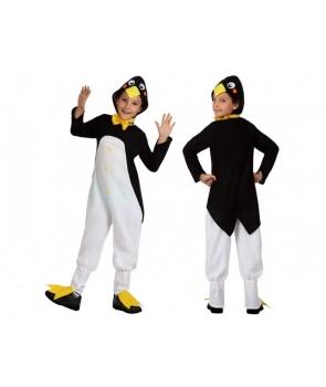 Costum carnaval copii pinguin cu galben