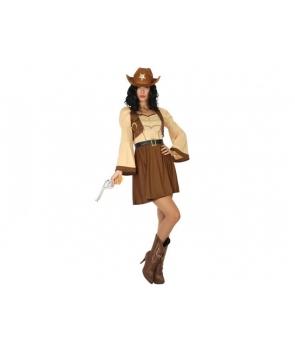Costum carnaval femei Cowgirl cu palarie