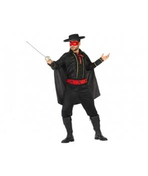 Costum carnaval barbati Zorro cu rosu