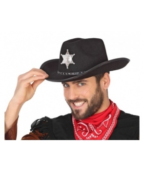 Palarie cowboy, serif neagra