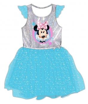Rochita carnaval Minnie albastra cu licenta