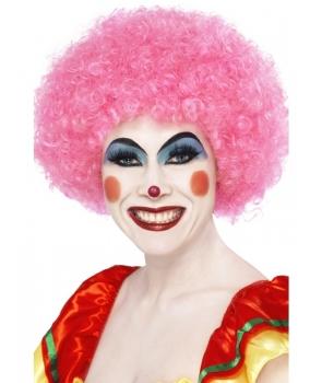 Peruca petrecere afro roz