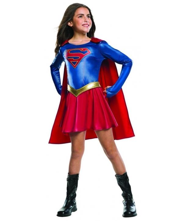 Costum carnaval fete Supergirl cu rosu