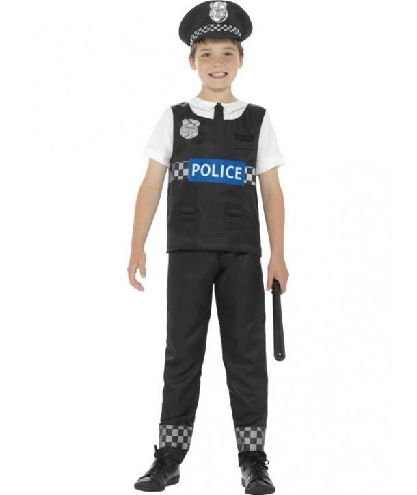 Costum carnaval copii Politist cu vesta