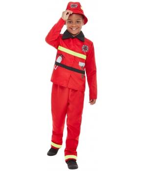 Costum carnaval baieti pompier cu accesorii