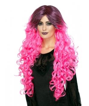 Peruca petrecere Glamour roz
