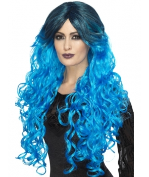 Peruca de petrecere Glamour albastra