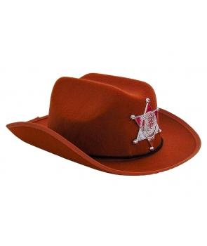 Palarie cowboy maro copii