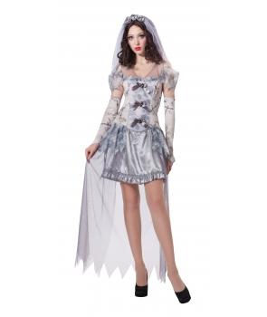 Costum Halloween femei Fantoma cu voal