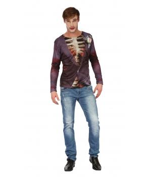 Tricou Halloween cu imprimeu zombie