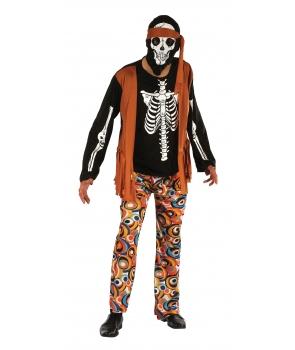 Costum Halloween barbati Schelet Hippy