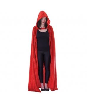 Pelerina Halloween femei rosie lunga