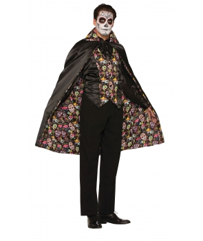Pelerina adulti unisex Day of the Dead