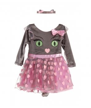 Costum carnaval fete Pisica cu roz