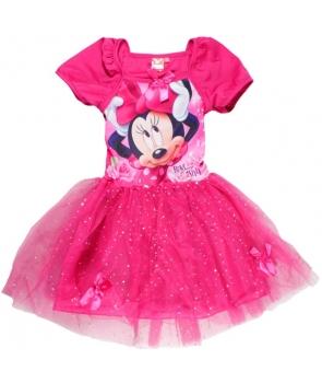 Rochita carnaval fete Minnie roz fuchsia
