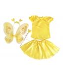Costum serbare fete Fluture galben