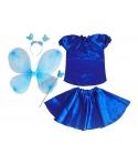 Costum serbare fete Fluture albastru