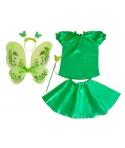 Costum serbare fete Fluture verde