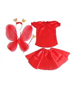 Costum serbare fete Fluture rosu