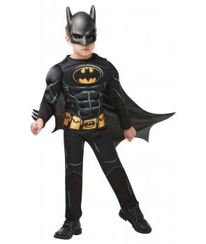 Costum carnaval baieti Batman negru cu licenta