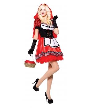 Costum carnaval femei Scufita Rosie