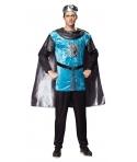 Costum carnaval barbati Cavaler medieval albastru