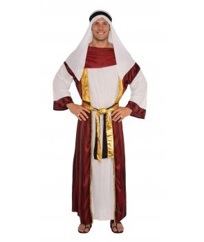 Costum carnaval barbati arab cu visiniu