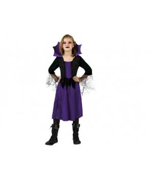 Costum Halloween fete Vampirita cu mov