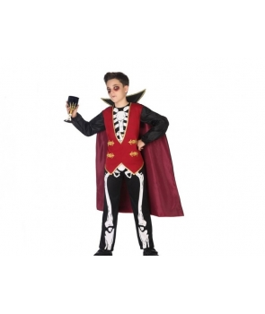Costum Halloween baieti Vampir Schelet elegant